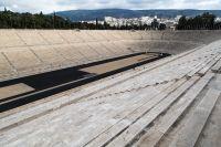 Unser Archivfoto © Eleni Kougionis wurde im Panathinaiko Stadion aufgenommen.