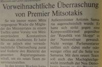 Vorweihnachtliche Überraschung von Premier Mitsotakis