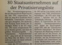 80 Staatsunternehmen auf der Privatisierungsliste