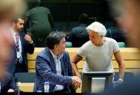 Unser Archivfoto (© Eurokinissi) entstand im Juli 2015 während einer Sitzung der Eurogruppe. Abgebildet sind Griechenlands Finanzminister Evklidis Tsakalotos und die IWF-Chefin Christine Lagarde.