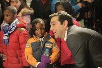 Weihnachtsfeier für Flüchtlingskinder im Parlament