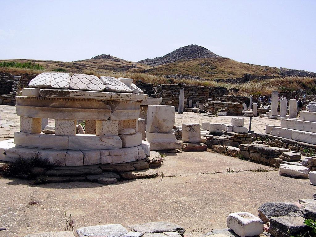 Tempel und Märkte beherrschten vor 2000 Jahren das Bild auf Delos small