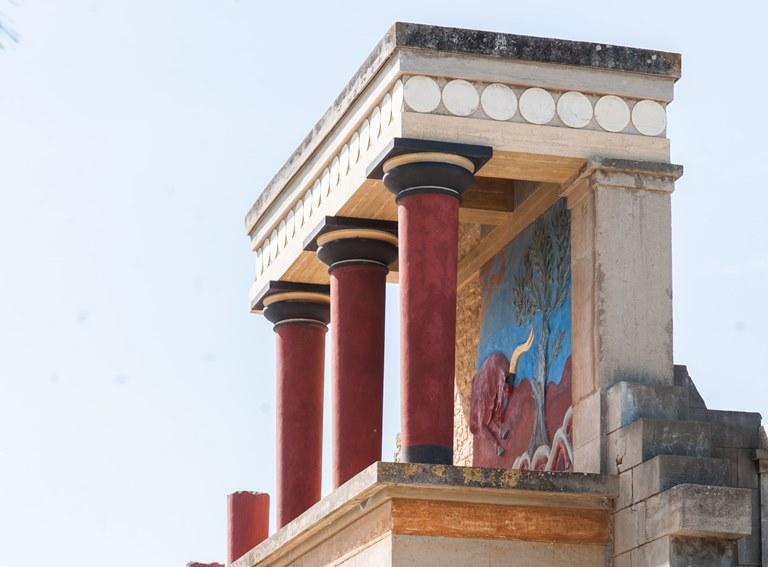 Zentrum minoischer Kultur Knossos am Stadtrand von Iraklio kb Parschau