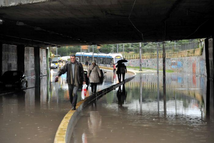Gewitter und Regen in Griechenland