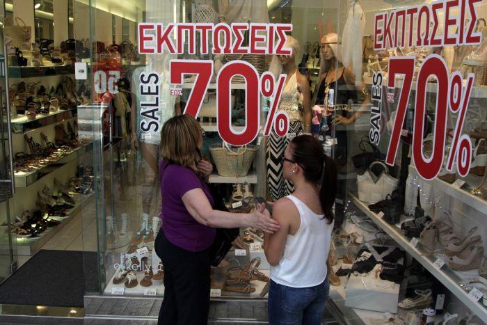 Sommerschlussverkauf in Griechenland fiel äußerst mager aus