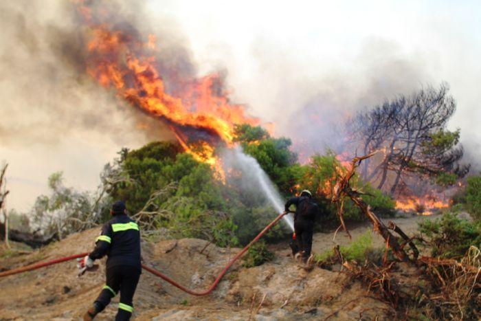 Griechenland: Brände auf Rhodos und Euböa
