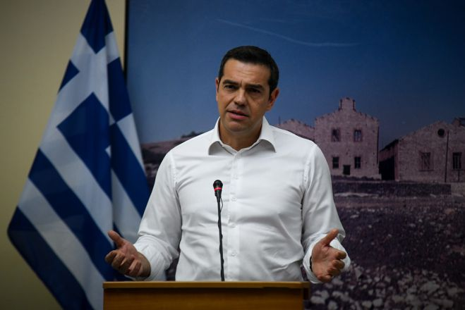 Foto (© Eurokinissi): Ministerpräsident Alexis Tsipras am Dienstag (7.8.)