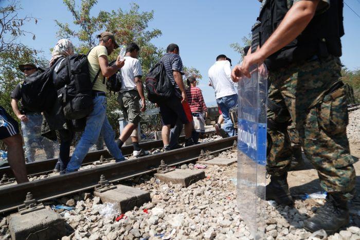 Immigranten fordern Öffnung der Grenze im Norden Griechenlands