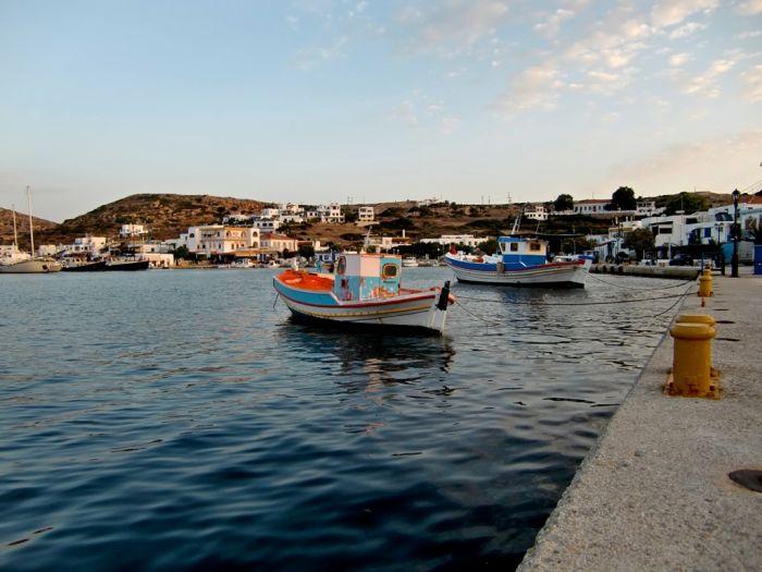 Wolkiges Hellas über der Ägäis