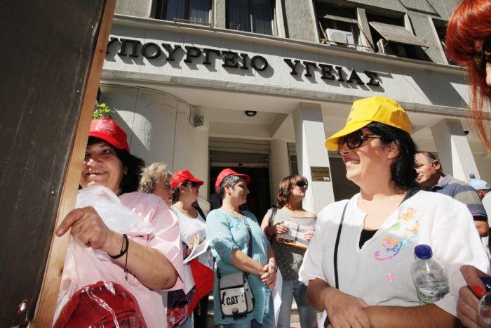 Ärzte der öffentlichen Krankenhäuser in Griechenland im Streik
