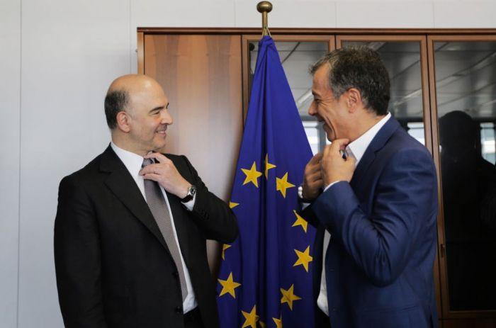 EU-Kommissar Moscovici als Vermittler zu Gast in Athen