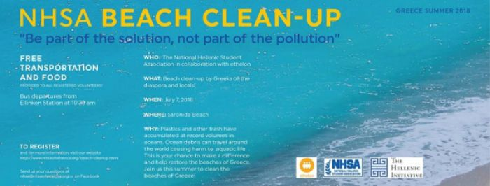 """Beach Clean-Up"" am Saronida Beach"