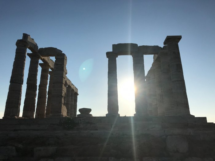 Das Foto (© GZ / Leonie Meyer) entstand am Poseidontempel am Kap Sounion in Attika.