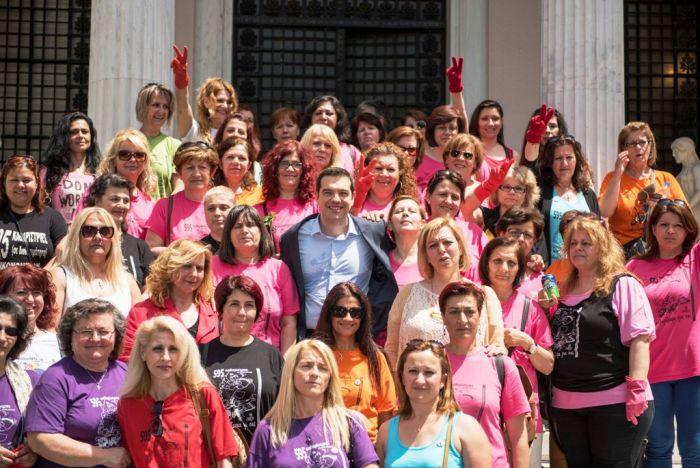Entlassung von Putzfrauen in Griechenland rückgängig gemacht