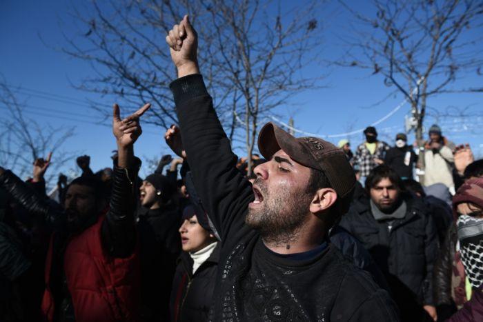 Spannungen zwischen Polizei und Migranten an Griechenlands Nordgrenze
