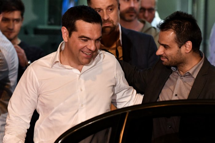 Unser Foto (© Eurokinissi) zeigt Ministerpräsident Alexis Tsipras am Wahlabend.