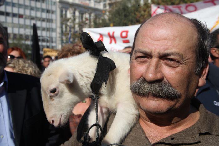 """""""Warnstreik"""" von 3500 Bauern in Athen"""