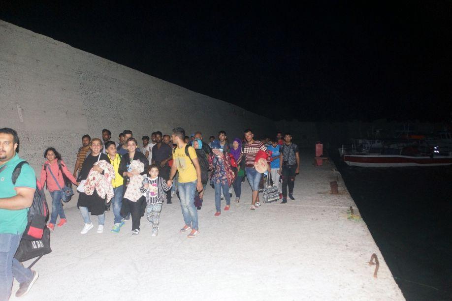 Leros Flüchtlinge